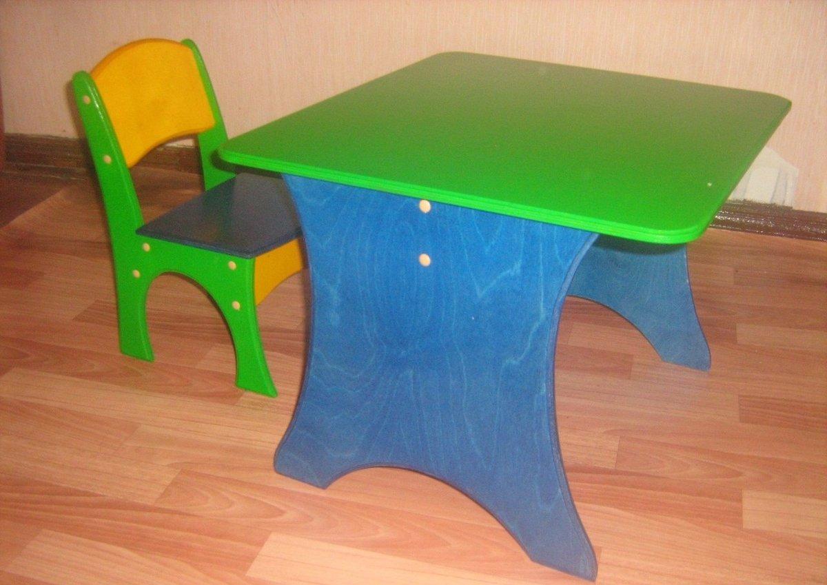 Детские стульчики и столы своими руками