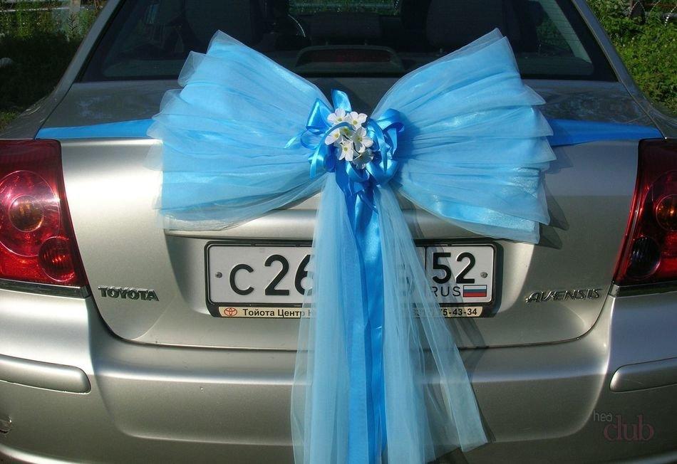 Бантики для машины на свадьбу своими руками 44