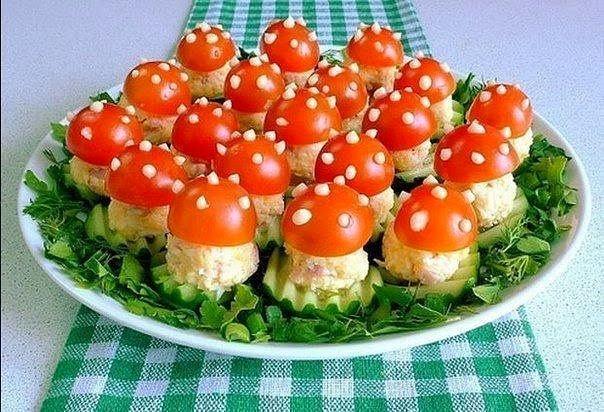 Как сделать грибы из помидоров 948