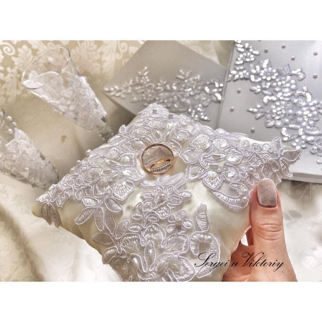 Как сделать подушечку для свадебных колец своими руками 197
