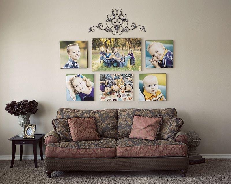 Семейные фото в интерьере квартиры