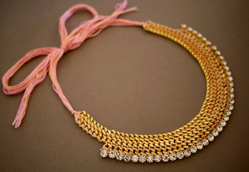 Ожерелье на цепочке своими руками 38