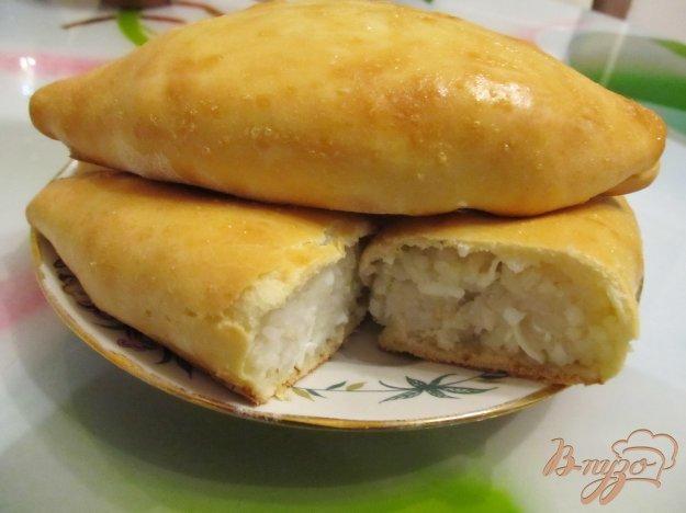 Пирожки с рисом в духовке пошаговый рецепт с
