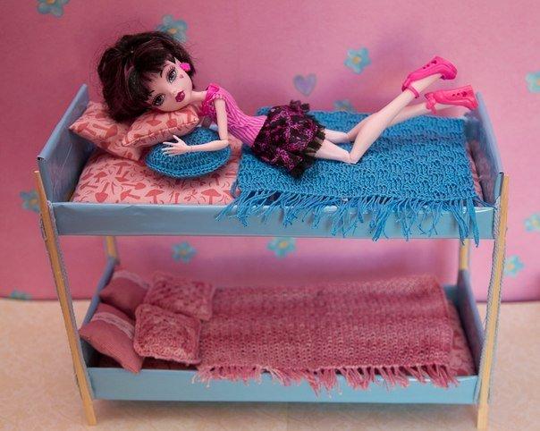 Как сделать кроватку своими руками барби 343