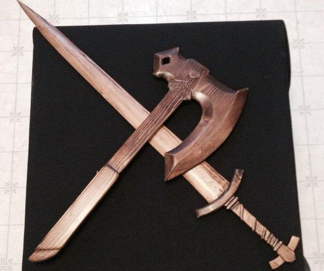 Как самому сделать деревянные мечи