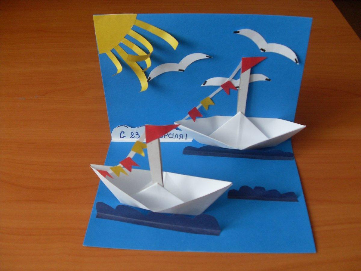 Как сделать кораблик из бумаги, интересные идеи 31