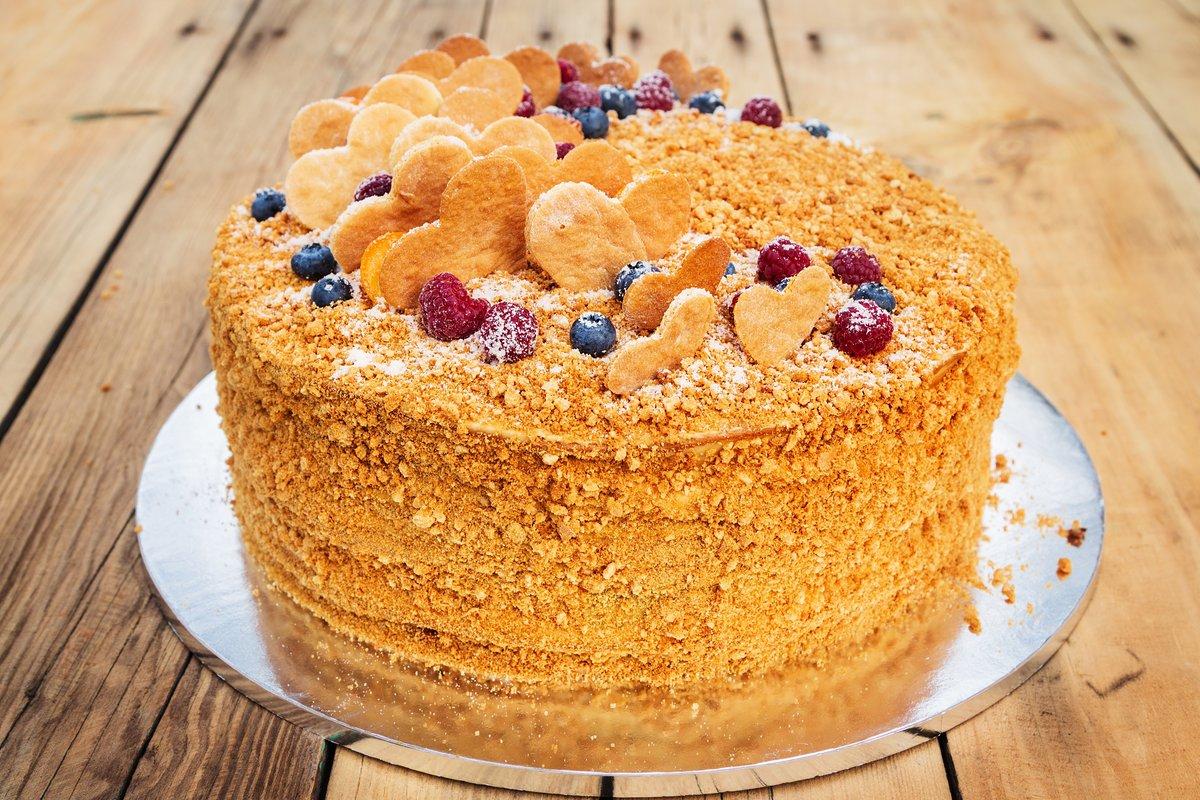 Как правильно сделать торт «Рыжик пошаговый рецепт с фото 36