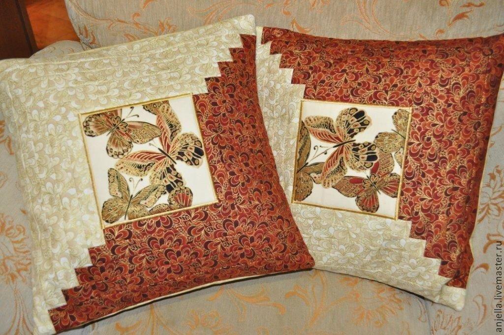 Сшить наволочку на подушку из кусков ткани 91