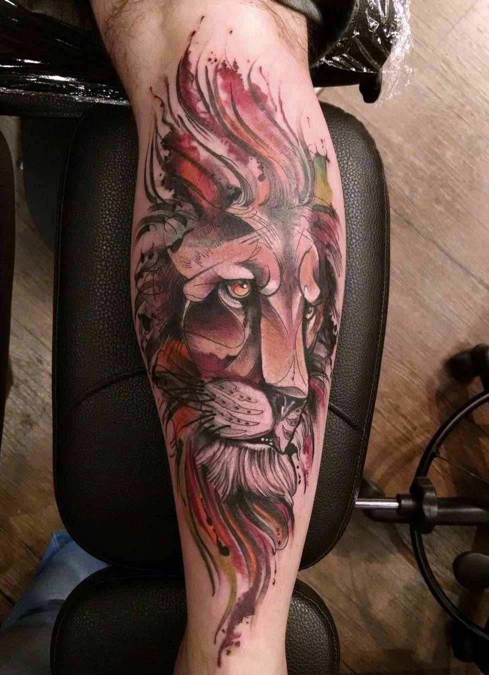 Лев татуировка: значение и фото 5