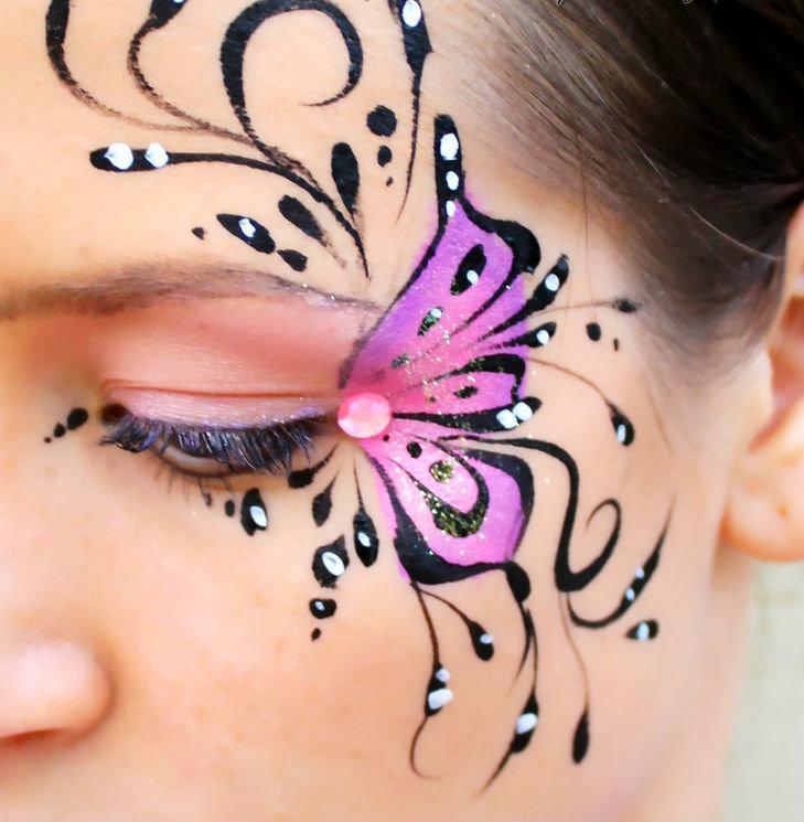 Рисунки на лицо для девочек простые 137