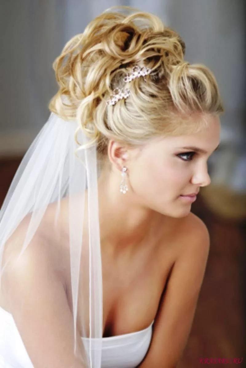 Свадебные прически на длинные волосы без челки фото с фатой и челкой