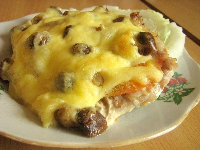 Что приготовить из свинины сыра и помидоров