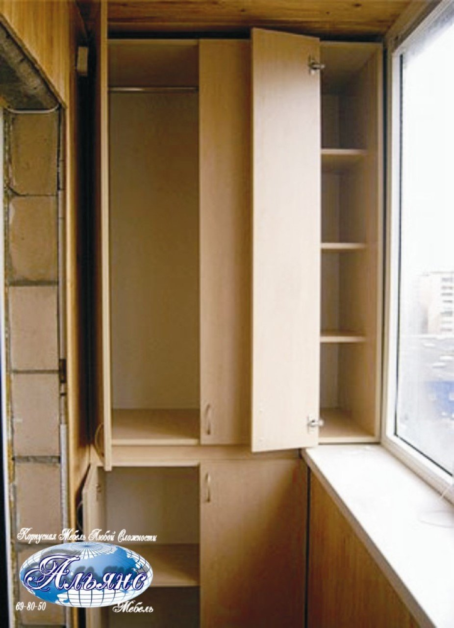 Делаем встроенный шкаф на балкон своими руками