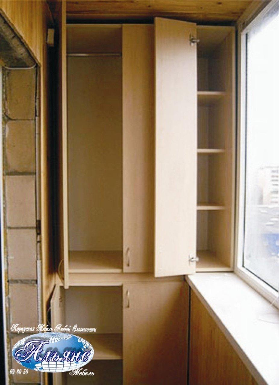 Шкаф купе на балконе своими руками пошагово с фото