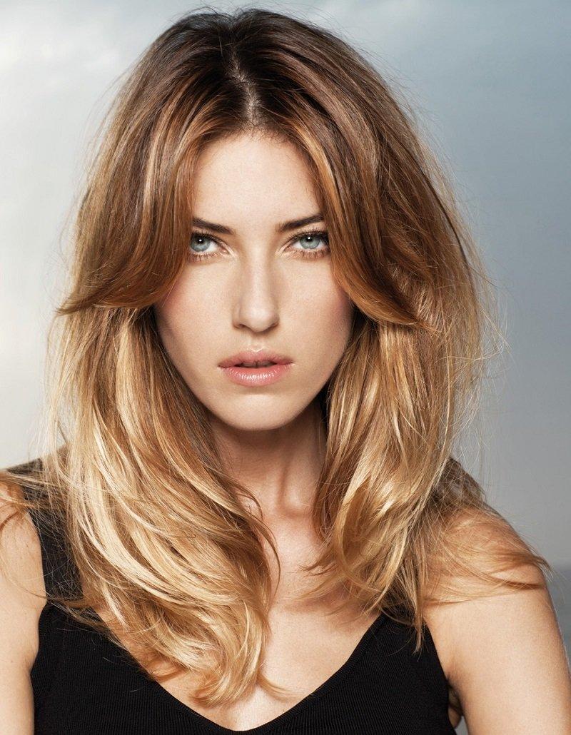 прически и окрашивание на длинные волосы фото