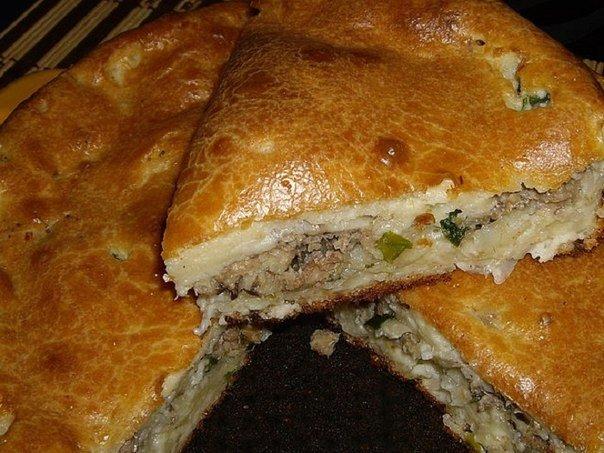 пирог с рыбными консервами и капустой рецепт