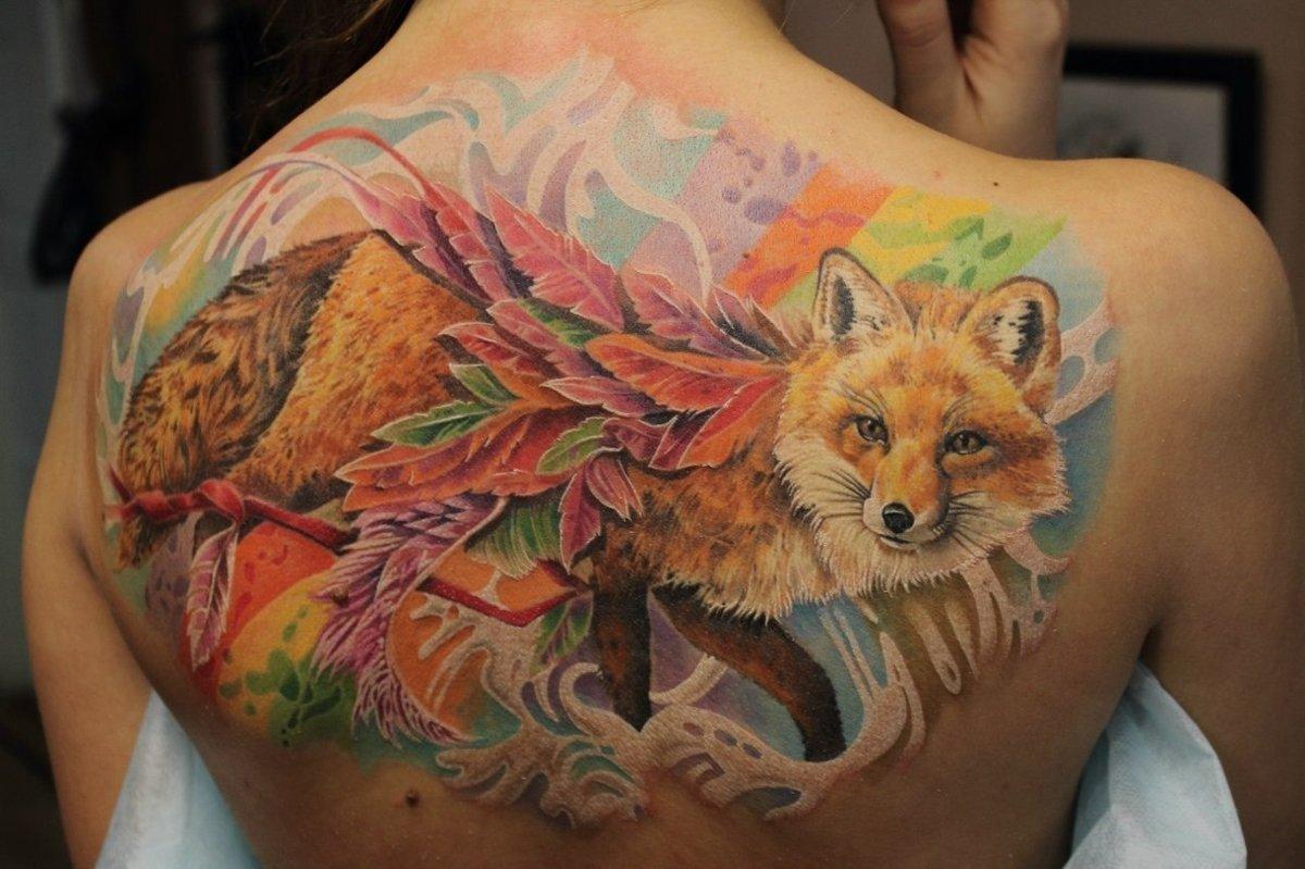 Значение тату лиса - Татуировки и их значение 3
