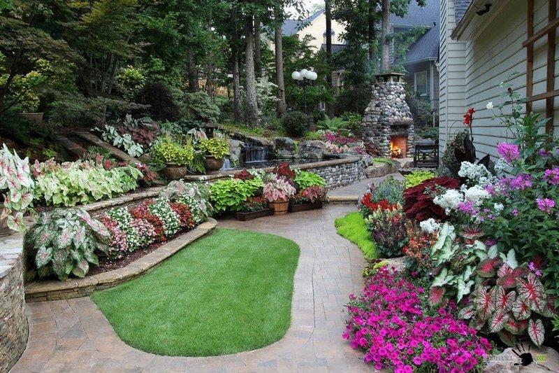 Ландшафтные дизайны садов фото