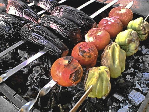 Овощи целые на мангале рецепты