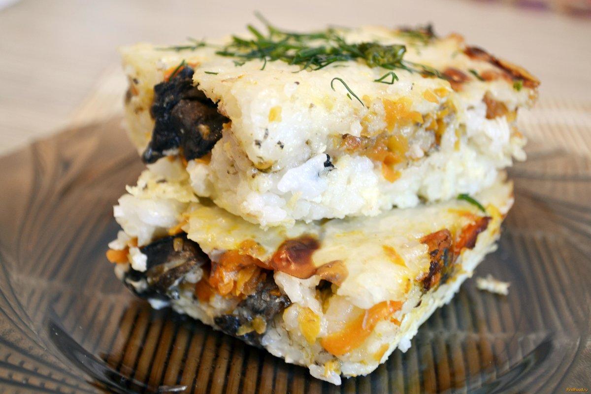 Запеканка с грибами картофелем и курицей в духовке рецепт пошагово