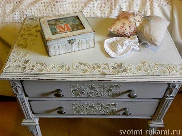 Декупаж старой кровати для девочки своими руками 47