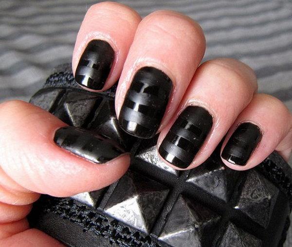 Как сделать ногти чёрными