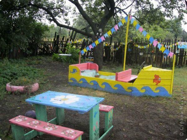 Кораблик на детскую площадку своими руками из дерева 13