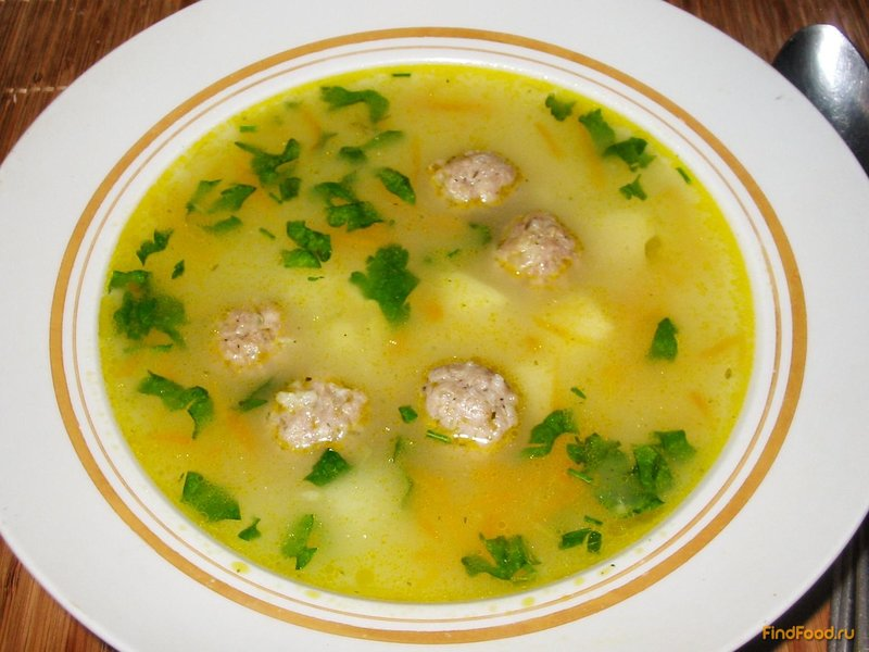 Пошаговый рецепт супа с фрикадельками и рисом с