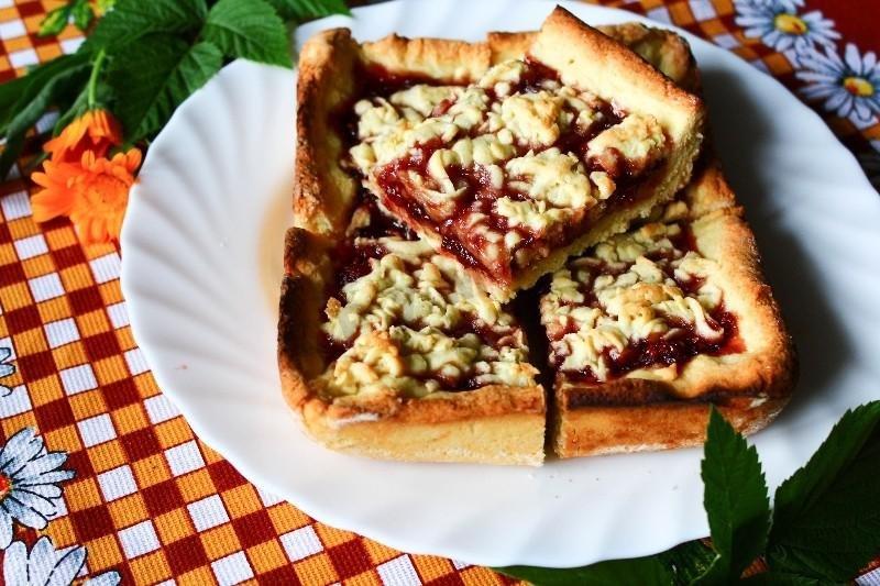 Пирог с малиновым вареньем рецепт пошаговый