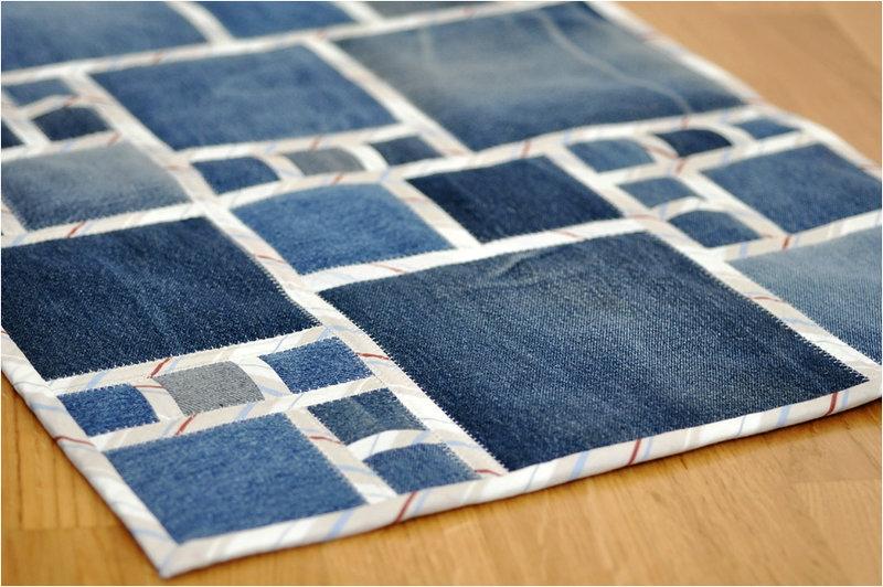 Коврики для дома из джинсов
