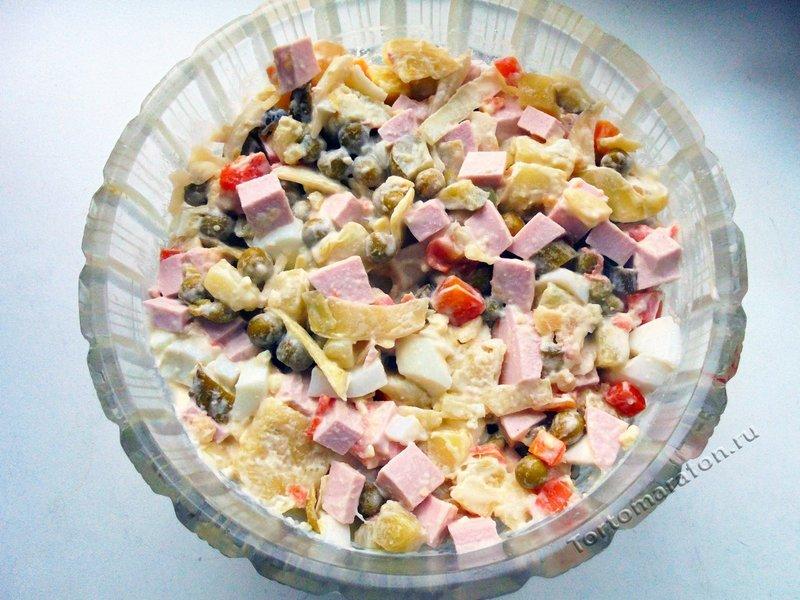 Оливье рецепт классический с фото пошагово
