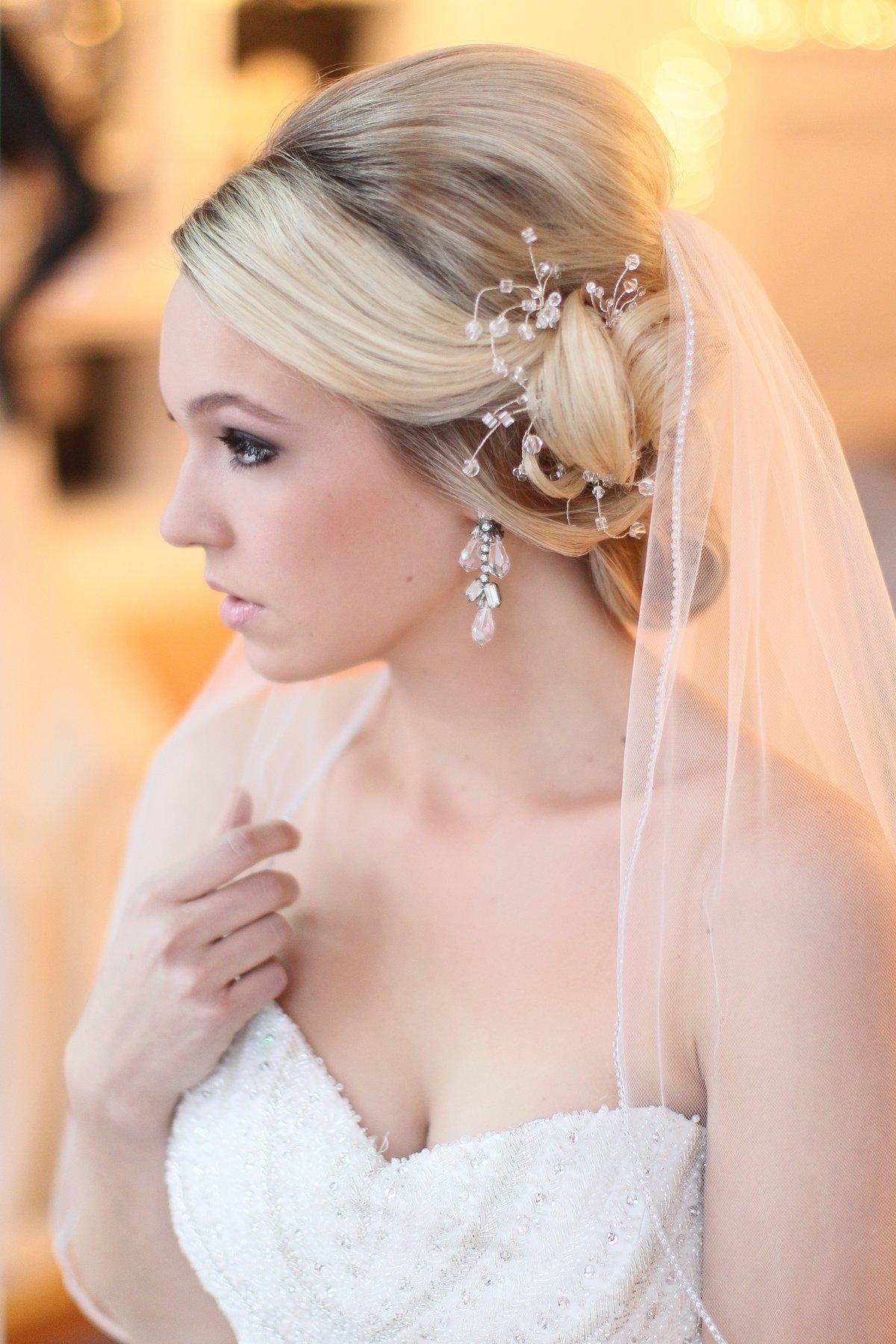 Свадебные причёски на средние волосы с фатой 2016 фото новинки