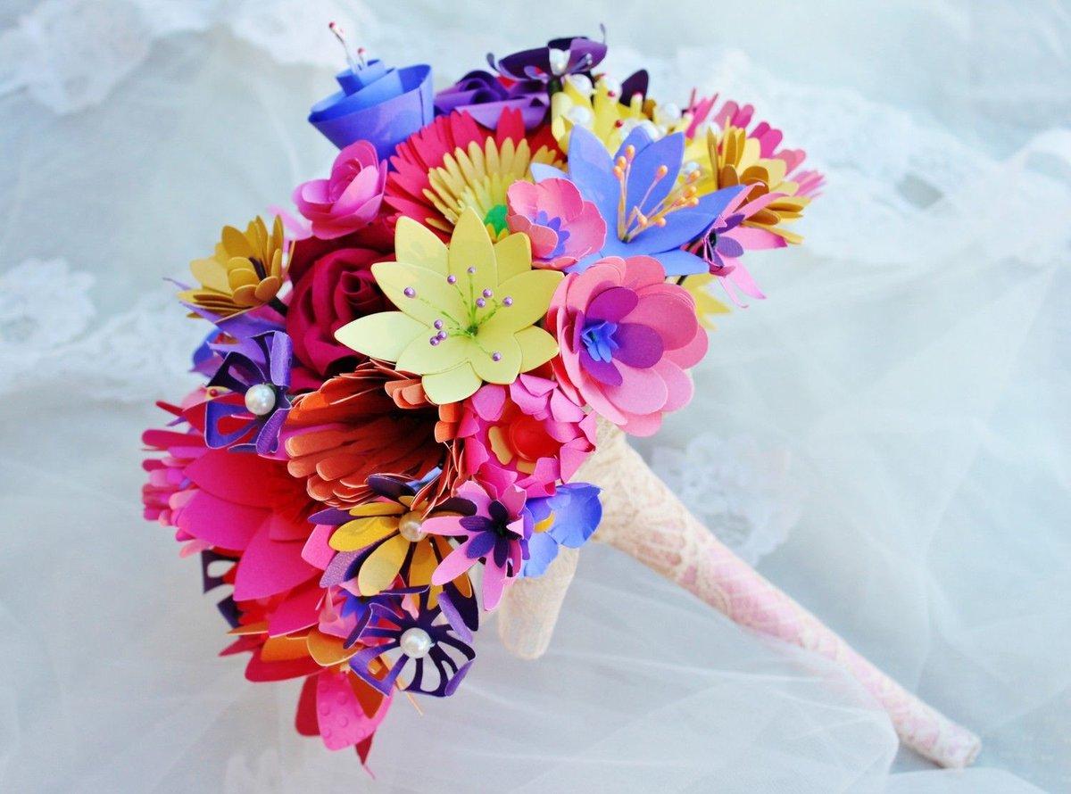 Делаем свадебный букет своими руками из бумаги 19