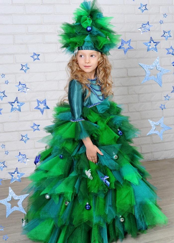 Костюм елочки для девочки на новый год своими руками