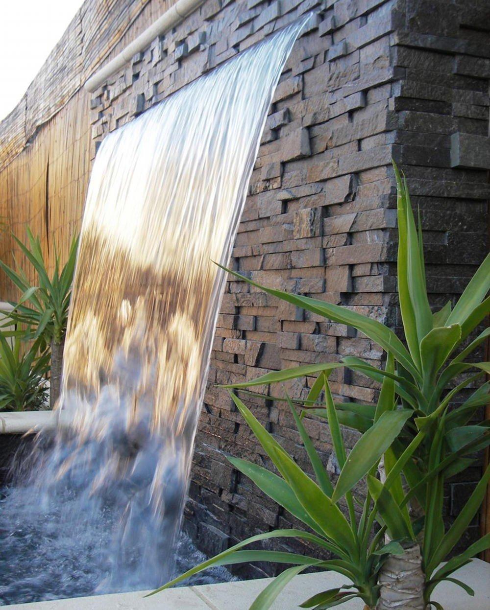 Водопад со стены своими руками на даче 37