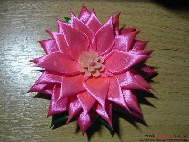 Новые цветы канзаши мастер класс видео