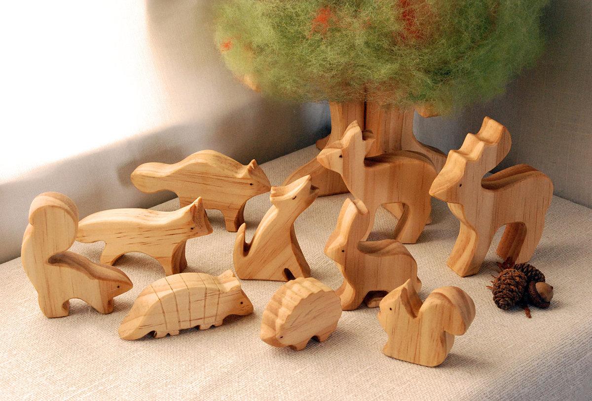 Животные из деревьев своими руками
