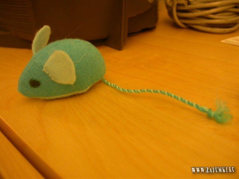Как сделать мышку для кошки 746