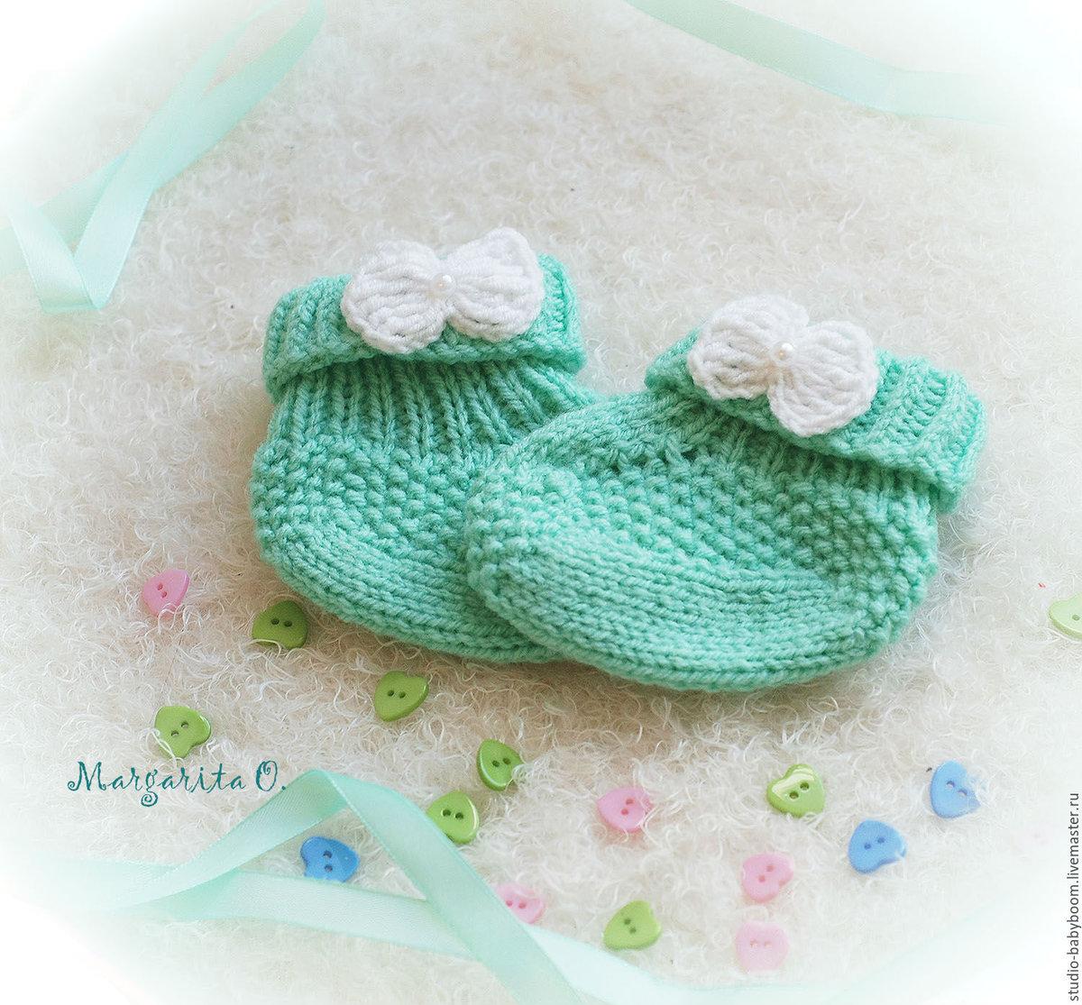 Носочки крючком для новорожденного схемы фото