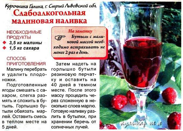 Рецепты наливок настоек на спирту в домашних  525