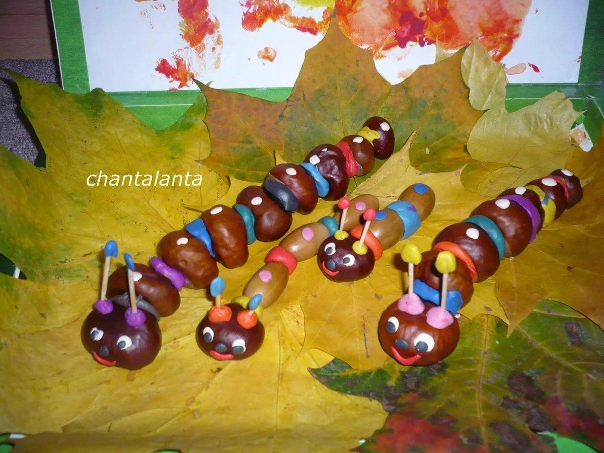 Осенние поделки детей для детского сада 530