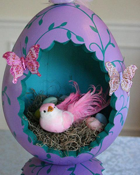 Как сделать пасхальное яйцо своими руками из яйца