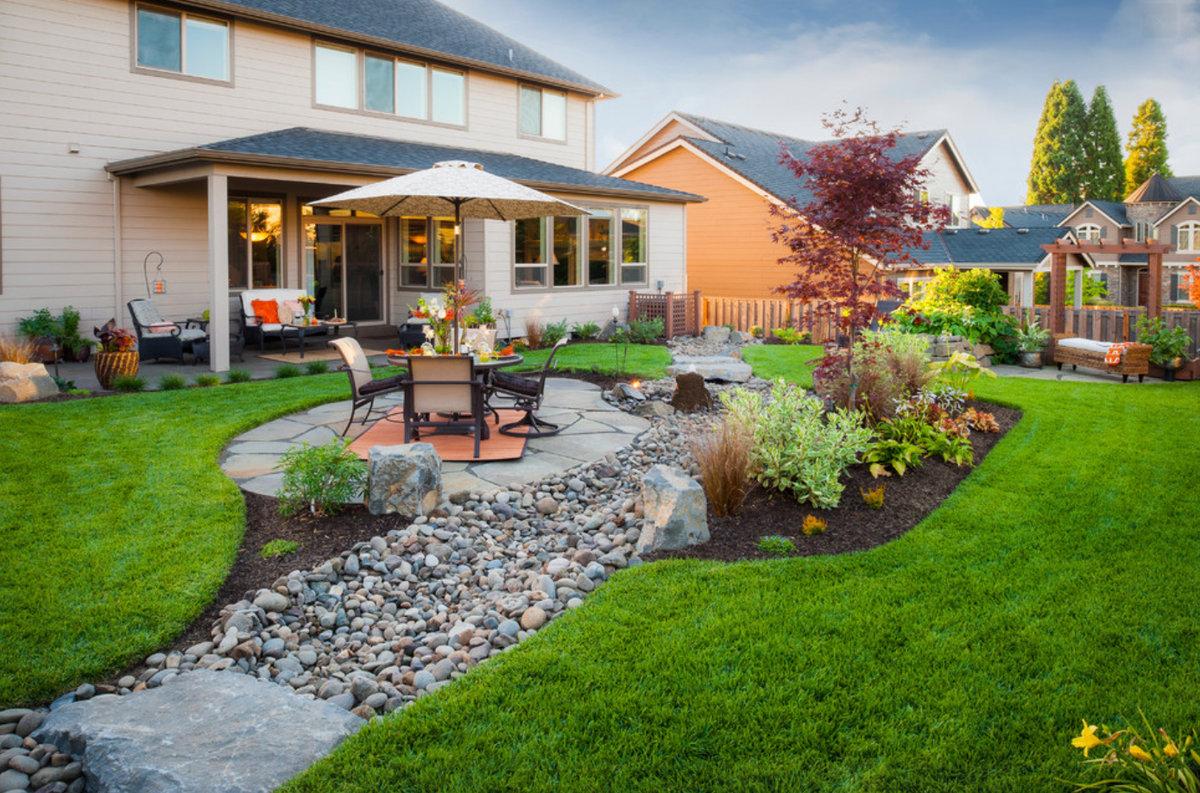 Ландшафтный дизайн загородно дома