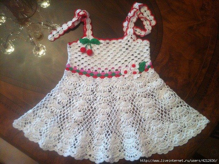Вязание детского платья сарафаны 713