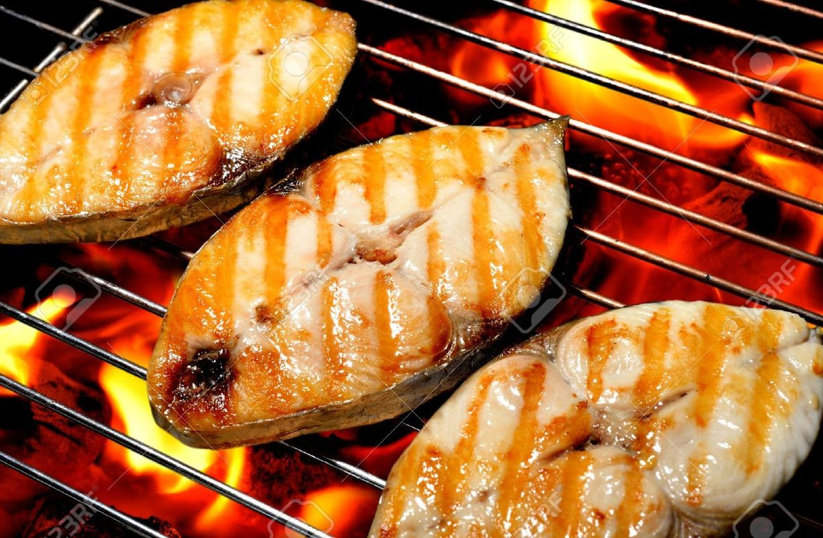Рыба гриль на решетке на углях рецепт пошагово