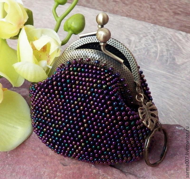 Вязание бисером кошелек с фермуаром 47