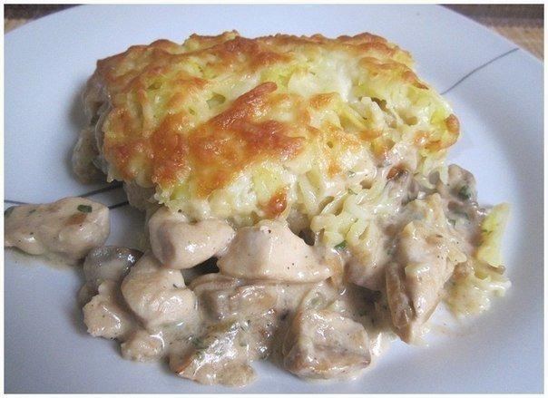 Курица с грибами и гречкой в духовке рецепт с пошагово