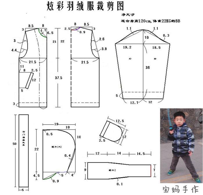 Выкройка детской куртки мальчику