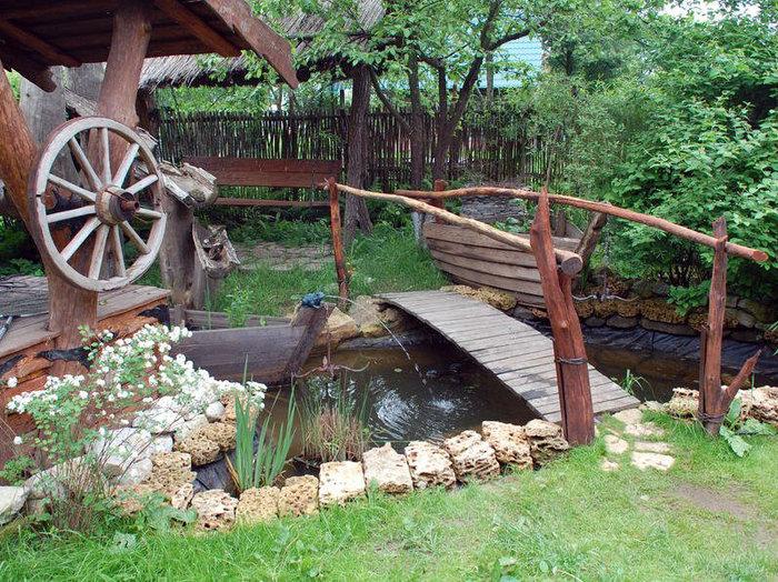 Сад в деревенском стиле своими руками