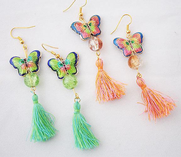Бабочки сережки своими руками